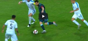 Messi dribbling alla Maradona in Argentina Uruguay video youtube