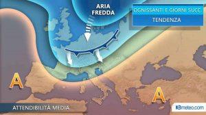 Previsioni meteo ponte Ognissanti 1-2-3 novembre: col freddo arriva la prima neve