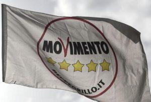 Una bandiera del Movimento 5 Stelle, Ansa