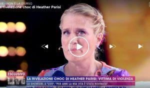 """Live - Non è la D'Urso, Heather Parisi: """"Anch'io sono stata vittima di violenza"""""""