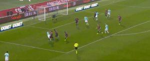 Rigore Bologna Inter Martinez Orsolini arbitro non usa var