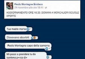 Moncalieri, sindaco Paolo Montagna non chiude le scuole per maltempo. Minacce di morte sui social