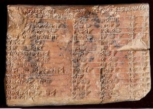 Un'antica tavola babilonese, foto Ansa