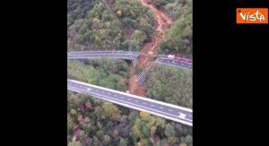 Viadotto crollato sull'A6 vicino a Savona: la ripresa aerea VIDEO