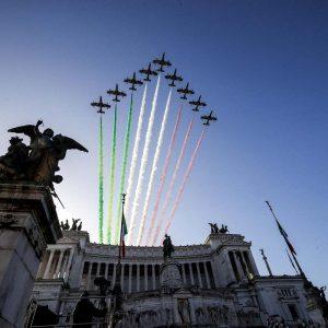 volo frecce tricolori roma