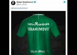 Ibrahimovic torna in Svezia? Lui pubblica maglia Hammarby col suo nome