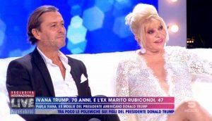 """Live Non è la d'Urso, Ivana Trump: """"Melania? E' bellissima ma non fa niente"""""""