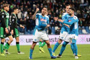 Sassuolo-Napoli 1-2, autogol di Obiang al 94': prima vittoria per Gattuso