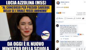 Lucia Azzolina, commenti sessisti dei fan di Salvini contro il nuovo ministro