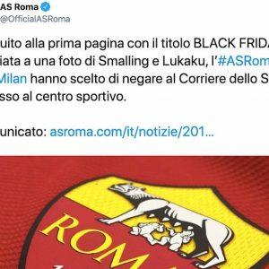 """Titolo """"Black Friday"""", Roma e Milan negano accesso al centro sportivo al Corriere dello Sport"""