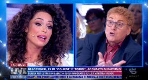 Fabrizio Bracconeri e Raffaella Fico discutono sul razzismo a Live Non è la D'Urso