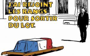 la vignetta antimilitarista di charlie hebdo
