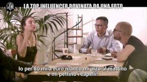Chiara Biasi a Le Iene: per 80 mila euro neanche mi alzo... I 2,5 mln di follower ben gli sta