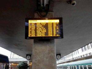 Firenze: treni dell'Alta Velocità in ritardo alla stazione di Santa Maria Novella per il terremoto nel Mugello