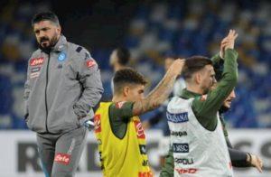 """Napoli, Gattuso: """"Multe ai calciatori? Prima le vittorie, poi risolveremo il resto..."""""""