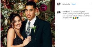 Meghan Markle e la foto col fidanzato del liceo a 16 anni su Instagram