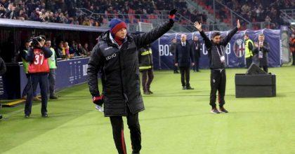 Bologna-Milan, Mihajlovic è tornato in panchina: sempre in piedi con la grinta di un leone