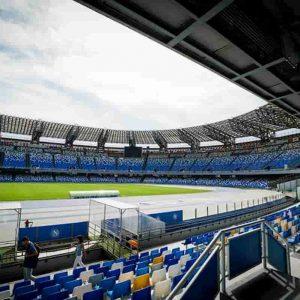 Napoli-Parma sabato alle 18 a rischio: Stadio San Paolo danneggiato dalla bufera