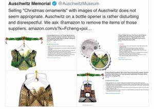 Palline di Natale con le foto di Auschwitz in vendita su Amazon. Rimosse dopo le proteste