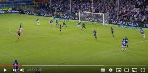 Quagliarella gol tacco Sampdoria Napoli, video YouTube Galà Calcio
