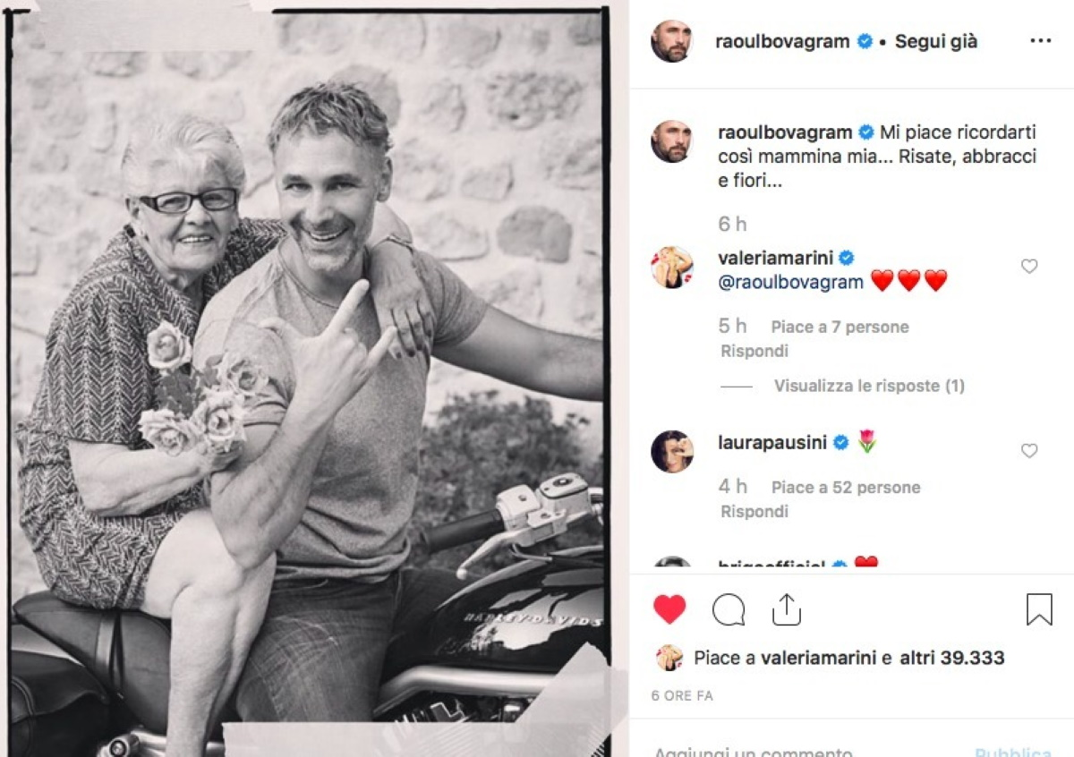 Amore Nero Raoul Bova raoul bova e il dolore al funerale della mamma rosa