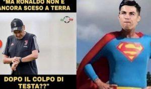 Cristiano Ronaldo come Superman, social lo esaltano dopo gol in Sampdoria-Juventus