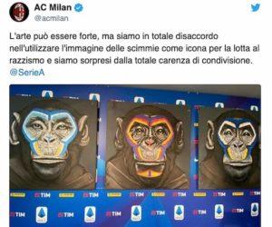 Serie A, scimmie nella campagna contro il razzismo: Milan e Roma protestano. De Siervo si scusa