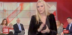 Storie Italiane, Eleonora Daniele parla di fibrosi cistica ma parte video della Macarena