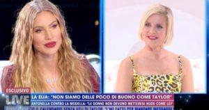 """Live Non è la D'Urso, Antonella Elia a Taylor Mega: """"Con le tue foto aiuti i ragazzini a farsi le pi**e"""""""