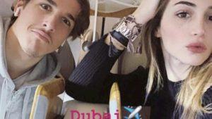 Zaniolo, Natale a Dubai con la fidanzata Sara Scaperrotta