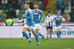 Napoli non vince mai in campionato, solo 1-1 con Udinese
