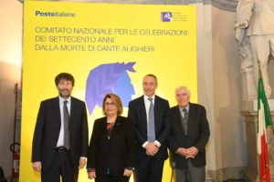 """Dante Alighieri, Poste Italiane e il ministro Franceschini celebrano il 7° centenario. """"Coi piccoli comuni riscopriamo l'identità nazionale"""""""