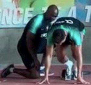 Cristiano Ronaldo si allena con Francis Obikwelu, l'uomo più veloce d'Europa VIDEO