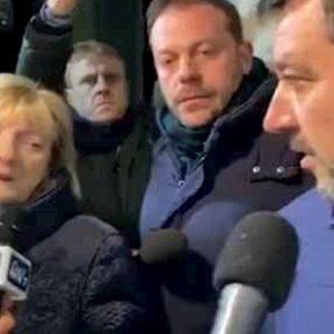 Anna Rita Biagini con Salvini