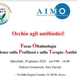 """""""Occhio agli antibiotici!"""": convegno nazionale sui rischi nel settore oftalmologico"""