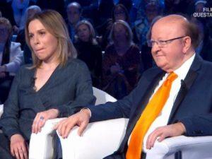 """Domenica In, Massimo Boldi e Irene Fornaciari: """"Il problema è che mi vedono con una donna più giovane"""""""