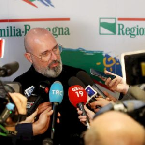 Emilia Romagna: Pd 34,69%, Lega 31,95%, M5S 4,74%. Bonaccini 28 seggi, Borgonzi 18