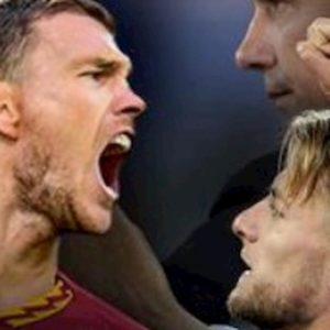 Roma-Lazio risultato gol in campo (0-0), Dzeko sfida Immobile