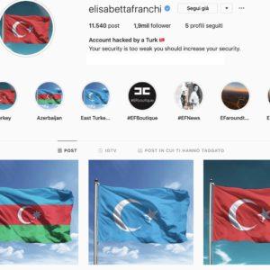 """Elisabetta Franchi, hackerato il profilo Instagram della stilista: """"Sono turchi, vogliono soldi"""""""