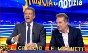 """Enzo Iacchetti: """"Quella volta che le Veline erano senza mutande..."""". Ma Striscia la Notizia smentisce"""