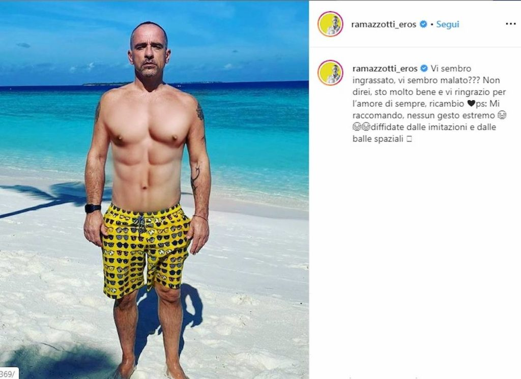 post instagram eros ramazzotti