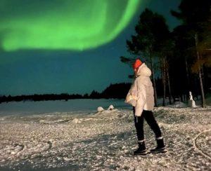 Francesca Fioretti, dedica commovente per Davide Astori davanti all'aurora boreale
