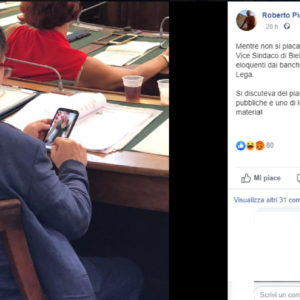 Consigliere Lega Biella e foto osé in aula: Sono di una collega