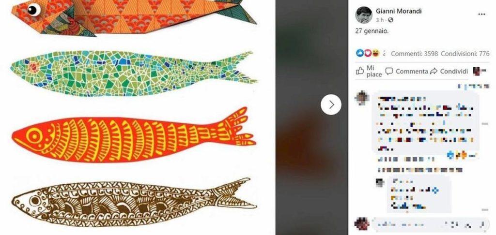 gianni morandi sardine facebook