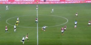 Torino-Atalanta 0-7, Ilicic gol con punizione da centrocampo
