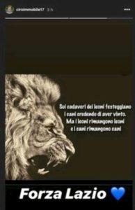 """Lazio, Immobile si sfoga su Instagram: """"Sui cadaveri dei leoni festeggiano i cani"""""""