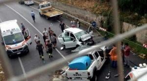 Schianto frontale sulla Palermo-Agrigento: due automobilisti morti sul colpo