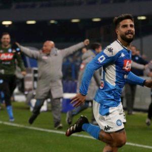 Napoli-Juventus 2-1, Sarri torna da avversario e perde. Show di Insigne