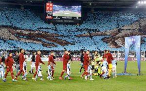 Roma-Lazio 1-1, FOTO striscioni e coreografie del derby