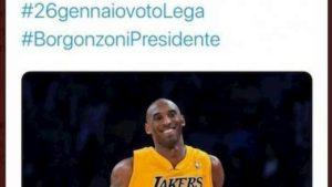 Lega, gaffe su Twitter: omaggio a Kobe Bryant...con gli hashtag elettorali